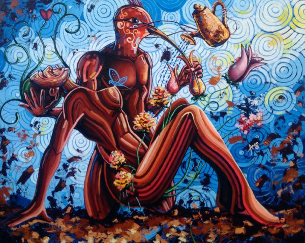 Nectar in sucking acrylic painting on canvas